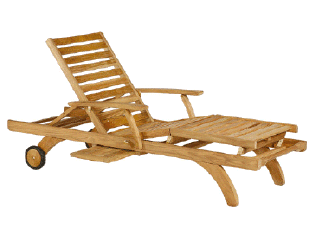 Teak Steamer And Loungers
