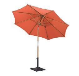 Teak Umbrella and Lazy Susan